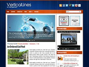 Wordpress тема слайдер VerticalLines