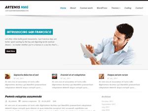 Бизнес шаблон Вордпресс ArtemisMag