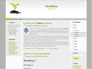 Светлая тема Ворд пресс Business-seedling