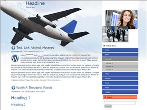 Вордпресс тема путешествия Business-travel