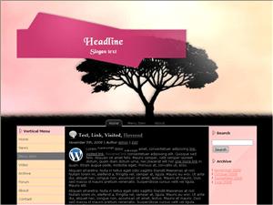 Вордпресс шаблон персональный блог Black-tree