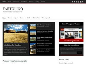 Стильный шаблон WordPress Fartolino