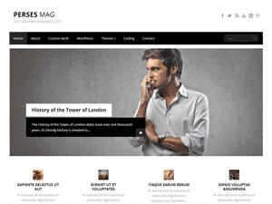 Wordpress шаблон персональный блог PersesMag