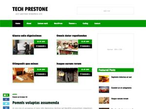Светлый шаблон WordPress TechPrestone