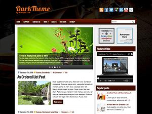 Вордпресс тема слайдер DarkTheme