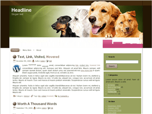 Wordpress тема животные Dog-breeds