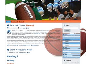 Вордпресс тема спорт American-football