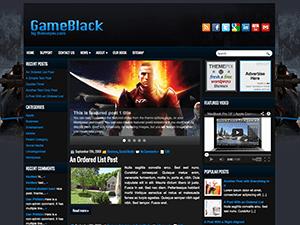 Шаблон Ворд пресс игры GameBlack