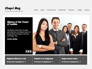 Wordpress тема бизнес KhepriMag