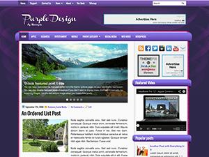 Шаблон Ворд пресс слайдер PurpleColor