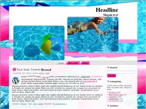 Вордпресс тема отдых Swiming-class-for-kids