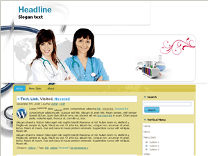 Вордпресс тема здоровье World-health