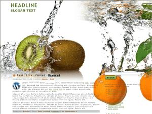 Простая тема Вордпресс Fresh-fruit