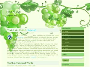 Вордпресс шаблон природа Bunch-of-grapes