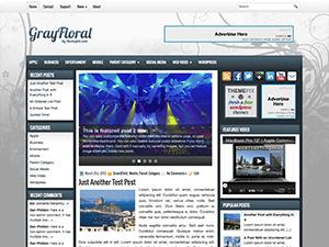 Универсальный шаблон Ворд пресс GrayFloral