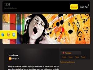Шаблон Вордпресс музыкальной тематики Music