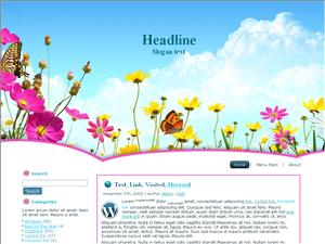 Шаблон Вордпресс природа Nature-flowers-blog