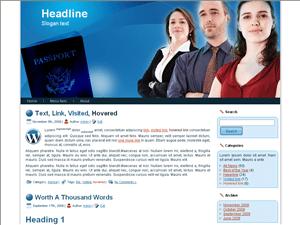 Бизнес тема Ворд пресс Pasport-information