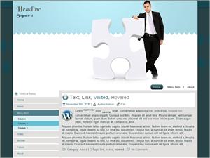 Бизнес тема WordPress White-puzzle-business