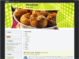 Кулинарная тема WordPress Special-food