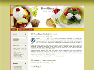 Кулинарная тема WordPress Western-food