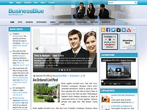 Wordpress шаблон на тематику бизнеса BusinessBlue