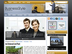 Шаблон WordPress на тему бизнеса BusinessStyle