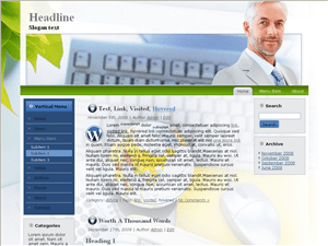 Бизнес тема WordPress Business-worldwide-approach