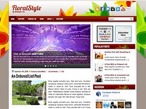 Цветочная тема Wordpess FloralStyle