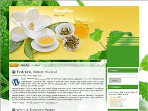 Кулинарная Вордпресс тема Green-tea-aroma