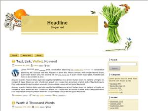 Шаблон WordPress здоровье Health-care-information