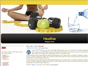 Вордпресс шаблон диеты Health-diet-lifestyle