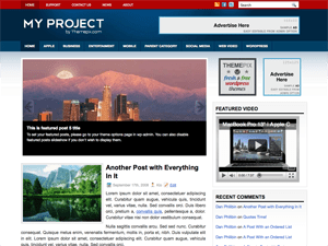 Универсальная тема WordPress MyProject