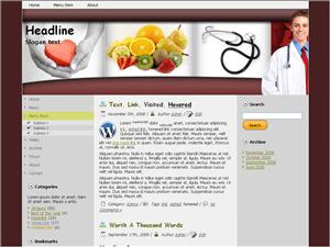 Шаблон WordPress здоровье Natural-health-magazine
