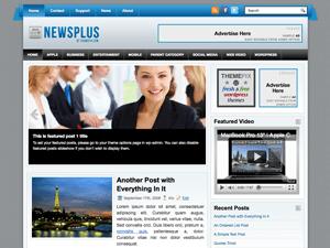 Шаблон WordPress галерея NewsPlus