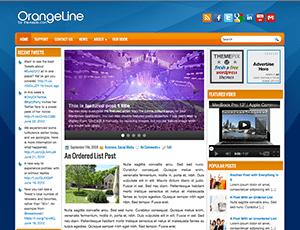 Шаблон WordPress слайдер OrangeLine