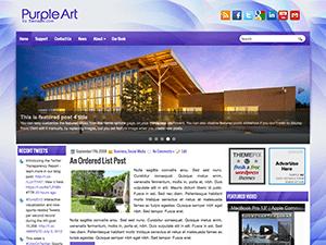 Шаблон Вордпресс слайдер PurpleArt