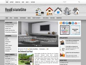 Wordpress шаблон недвижимость RealEstateSite