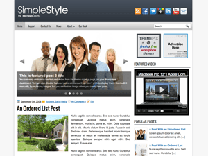 Шаблон WordPress бизнес SimpleStyle