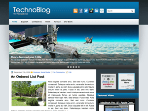 Техно тема Вордпресс TechnoBlog