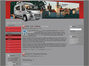 Шаблон WordPress автомобили Win-a-car
