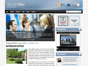 Шаблон Вордпресс бизнес WorldSite