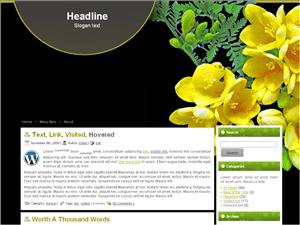 Простая тема Ворд пресс Yellow-flowers