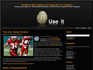 Вордпресс тема темные тона Brain-Use-It