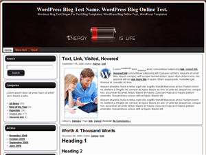 Вордпресс тема техно Energy-Is-Life