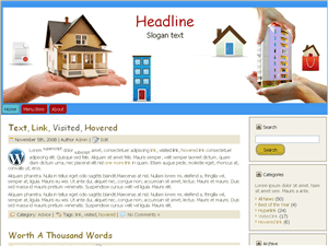 Шаблон WordPress недвижимость Estate-website
