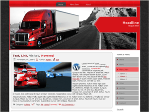 Шаблон WordPress авто Fast-Delivery