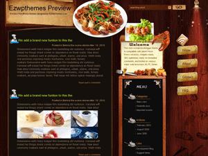 Тема Вордпресс кулинария Food-lottery