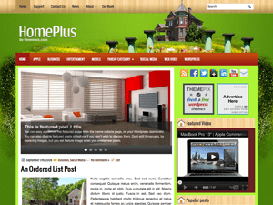 Шаблон WordPress интерьер HomePlus