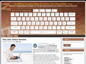 Шаблон WordPress персональный блог Photoshop-Shortcuts